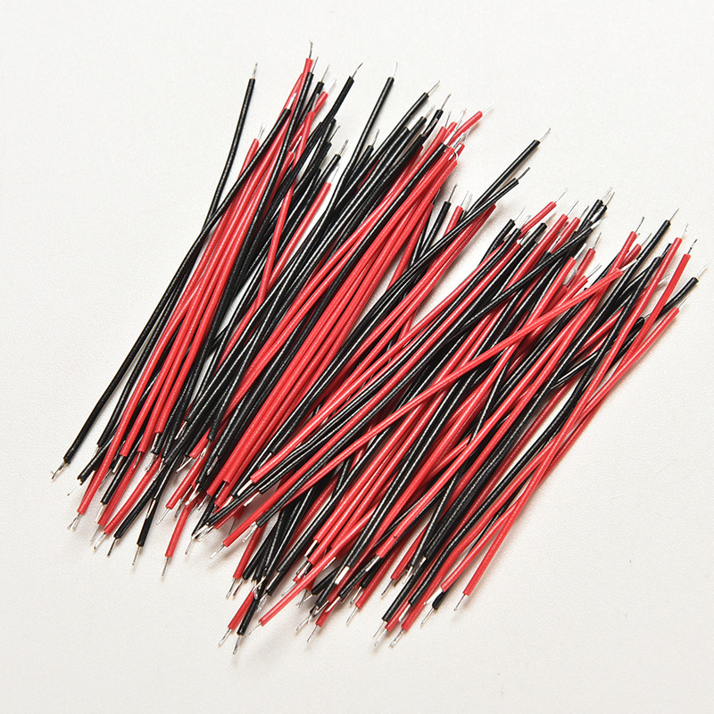 100Pcs (Black 50pcs Red  50pcs) Kit Motherboard Breadboard Jumper Cable Wires Set Tinned