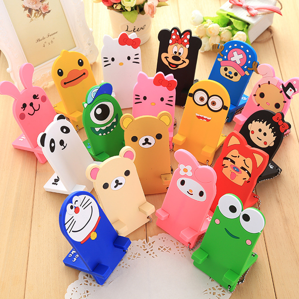 Phone holder Korea cute cartoon cute lazy phones holder cell for iphones for Android cartoon silicone
