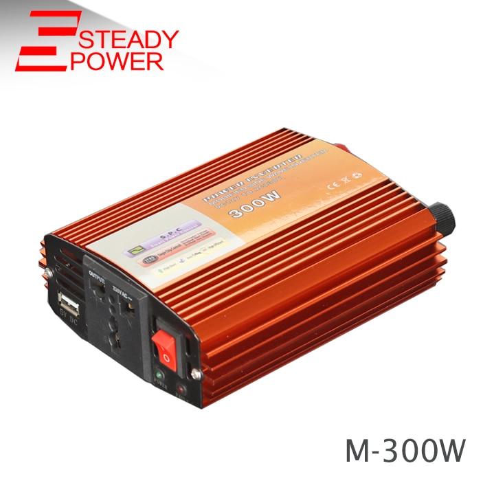 цена на high quality 300w modified sine wave inverter 24v 220v dc-ac single phase power inverter