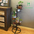 Package mail type restoring ancient ways, wrought iron flower Real wood floor type multilayer sitting room balcony flowerpot she