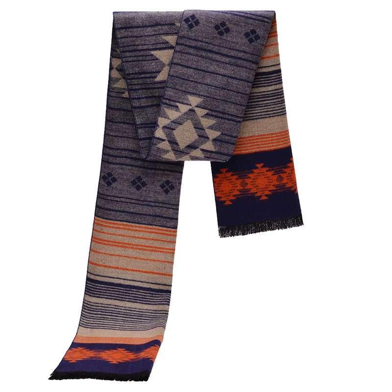 Winter Cashmere Scarf Men Brand Striped Echarpes Foulard Homme Chic Vintage Thick font b Tartan b