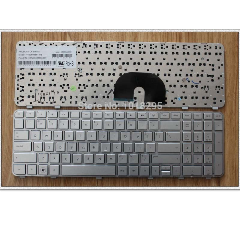 New US Silver Laptop keyboard For HP Compaq DV6-6000 DV6-6100 DV6-6200 DV6-6090 90.4RH07.L01 SG-48900-XUA цена