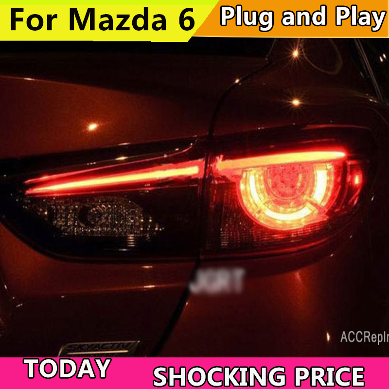 Car Styling for Mazda 6 Taillights 2014 2017 for Mazda 6 LED Tail Lamp+Turn Signal+Brake+Reverse LED light