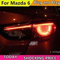 doxa Car Styling for Mazda 6 Taillights 2014 2017 for Mazda 6 LED Tail Lamp+Turn Signal+Brake+Reverse LED light