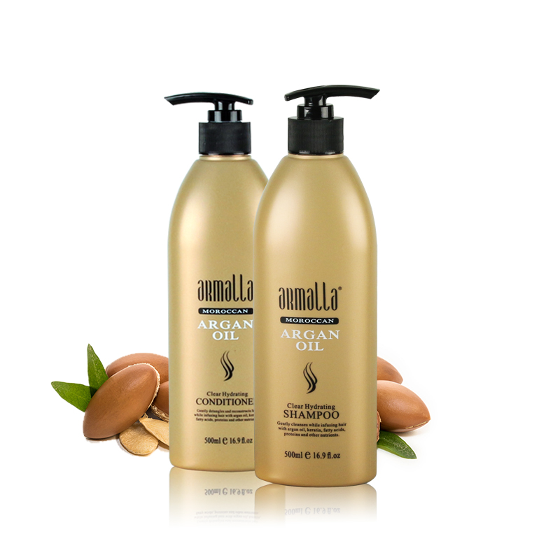 Armalla 500ml Moroccan Clear Hydrating Shampoo+500ml Conditioner+500ml Instant Repairing Mask Treatment Shine Soft Free Shipping 2