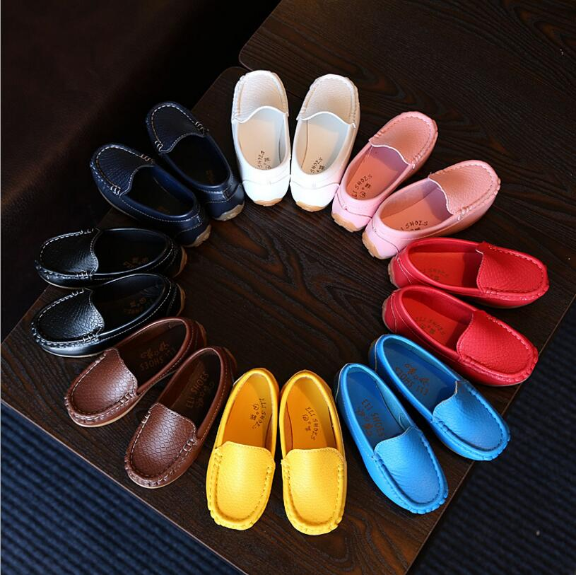 EUR 21-36 Childrens Spring Summer Baby Soft Single shoes Kids Fashion Toddler Teenagers Boys Girls School Leather Shoes 31