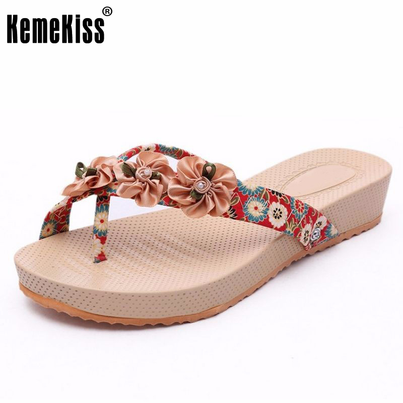 Women Slippers Flower Shoes Woman Flats Sandals Beach Flat Flip Flops Ladies Sandalias Zapatos Mujer Footwear Size 35-39 PA00194 wolf who summer women slippers buckle flats sandals fashion beach sandals leisure sandalias mujer high quality flip flops women