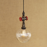 Rh French Style LED Lamps Romantic Retro Art Creative Clothing Shop Hanging Light Coffee Shop Iron