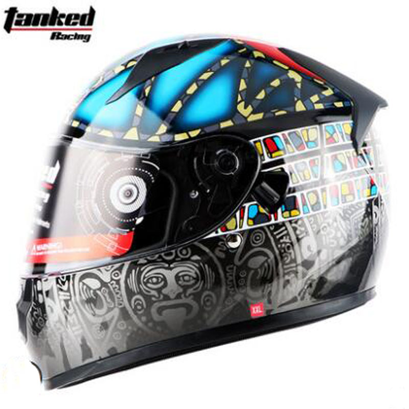 2018 Winter Warm Double Lens Tanked Racing Motorcycle Helmets Full Face Tanked Motorbike helmet Moto Casque with Neckerchief