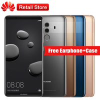 Huawei Mate 10 Pro 6 GB RAM 128 GB ROM 4G LTE 6.0 ''Kirin 970 2160*1080 4000 mAh 3 Camera NFC Vingerafdruk Android 8.0 Smartphone