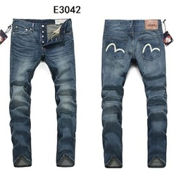 New Arrival Authentic Evisu Top Quality Trend Fashion Men Pants Jeans Straight Print Leisure Printing Mid Waist Men's Trousers