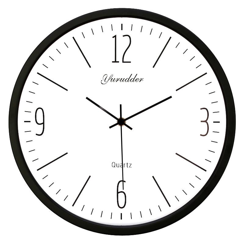 Nejnovější 14 palců kovový rám Moderní módní dekorativní kulaté nástěnné hodiny