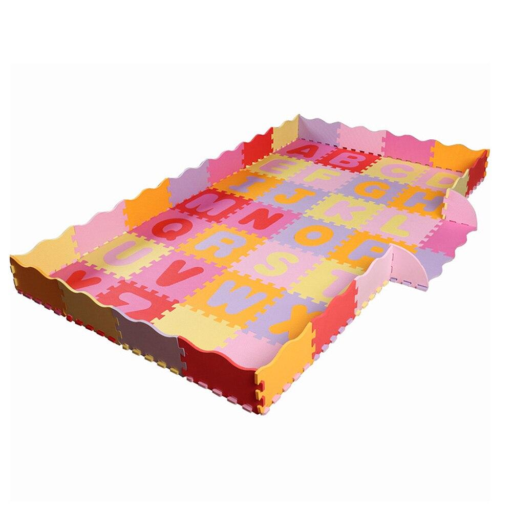 Tapis de jeu de Puzzle de mousse d'eva de bébé/tapis d'enfants joue le tapis pour les tuiles de plancher d'exercice de verrouillage d'enfants - 2