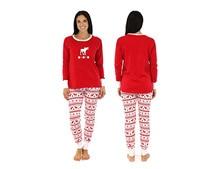Xmas Moose Fairy Christmas Family Pajamas Set Adult Kids Sleepwear