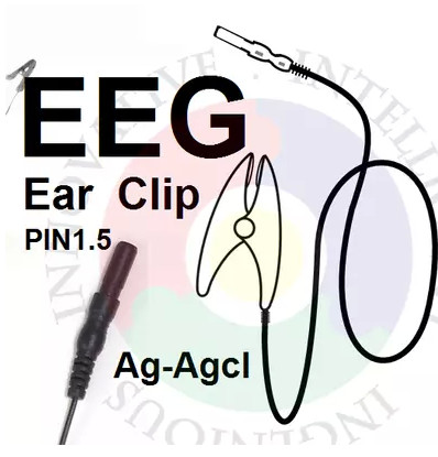 FREE SHIPPING EEG Brain Electricity Ear Clip Silver Chloride Ear Clip Electrode. It Is Suitable For OpenBCI Brain Module.