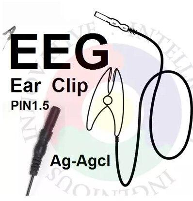 FREE SHIPPING EEG Brain Electricity Ear Clip Silver Chloride Ear Clip Electrode. It Is Suitable For OpenBCI Brain Module.