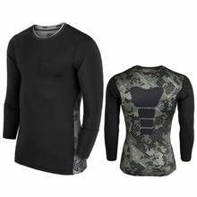 Men Quick Dry Workout Gymming Top Long Sleeve Tee Sporting Runs Compression Fitness Clothes Exercise Plus Size Clothing T Shirt