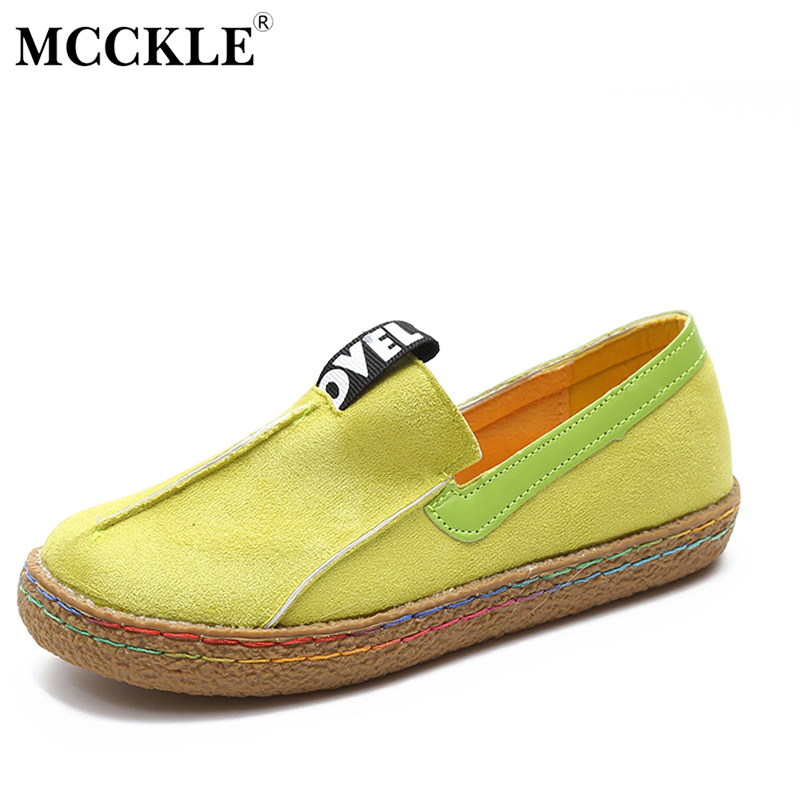 MCCKLE Female Slip On Flats 2017 Fashion Sewing Oxford Autumn Women Loafers Style Black Platform Plus Size Ladies Shoes mcckle 2017 ladies fashion sexy autumn winter ankle boots female slip on zip black solid platform high heels plus size34 43