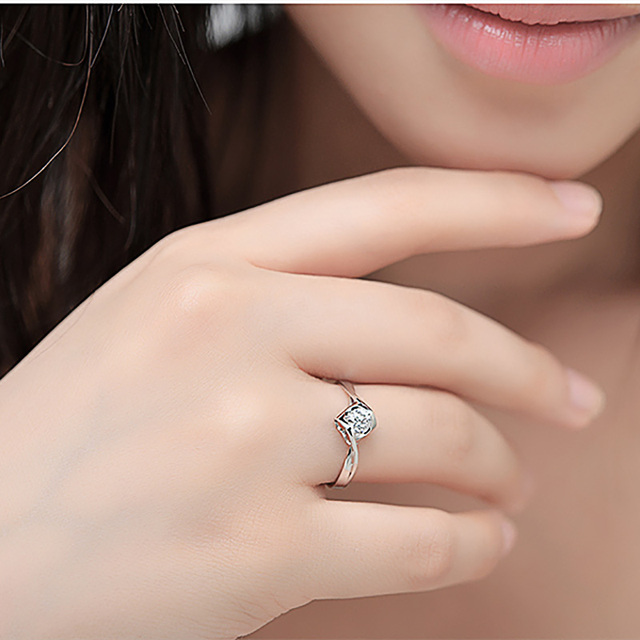 Natural diamond Ring 18k Gold Women Lover Couple Anniversary Romantic Propose Engaged Wedding Party South African 2020 New Good