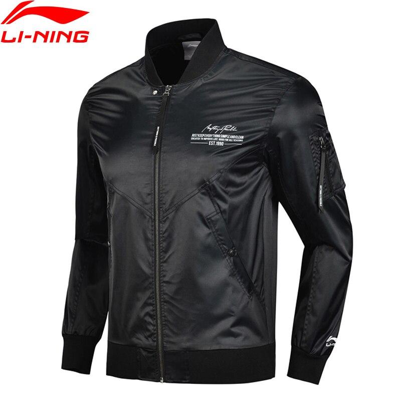 Li Ning Men The Trend Sport Jacket Regular Fit 100 Polyester Zipper Closure LiNing Sports Coats