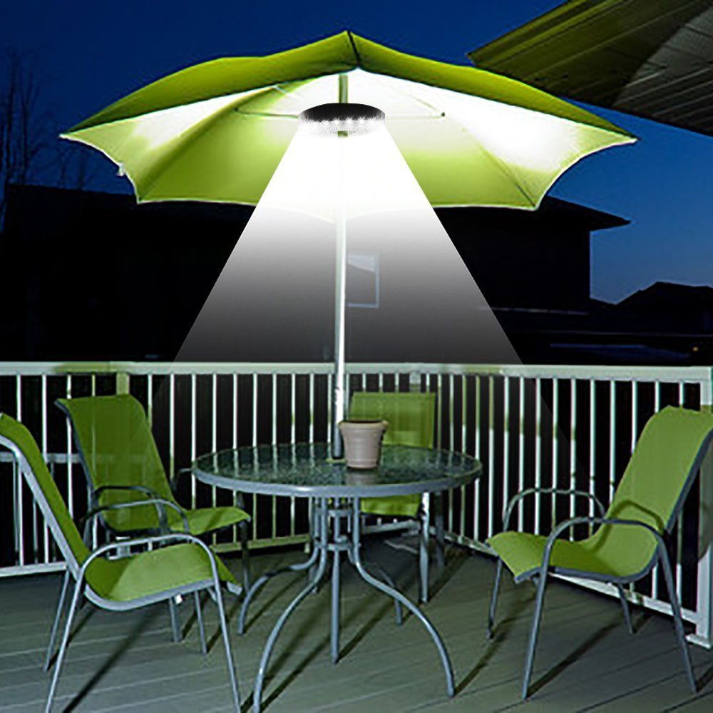 Patio Umbrella Light Cordless LED Light Outdoor Camping Umbrella Pole Light