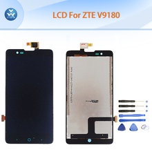 AAA LCD For ZTE Red Bull V5 U9180 V9180 N9180 LCD display touch screen digitizer assembly 5 inch black pantalla repair+tools