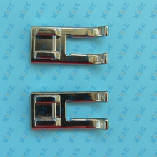 2PCS Snap on Metal Open Toe Satin Stitch Foot Singer Featherweight 221,221k,222 # CY-718