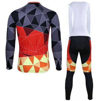 Siilenyond 2019 Winter Pro Keep Warm Cycling Jersey Sets Quick-Dry Mountain Bike Cycling Clothing Suit Racing Bike Wear For Men 2