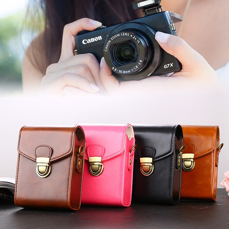 PU Leather Camera Bag Case For Panasonic Lumix LX10 LX15 LX7 TZ90 TZ80 TZ70 TZ60 TZ57 TZ50 TZ40 TZ30 TZ20 ZS70 ZS50 ZS30 ZS20