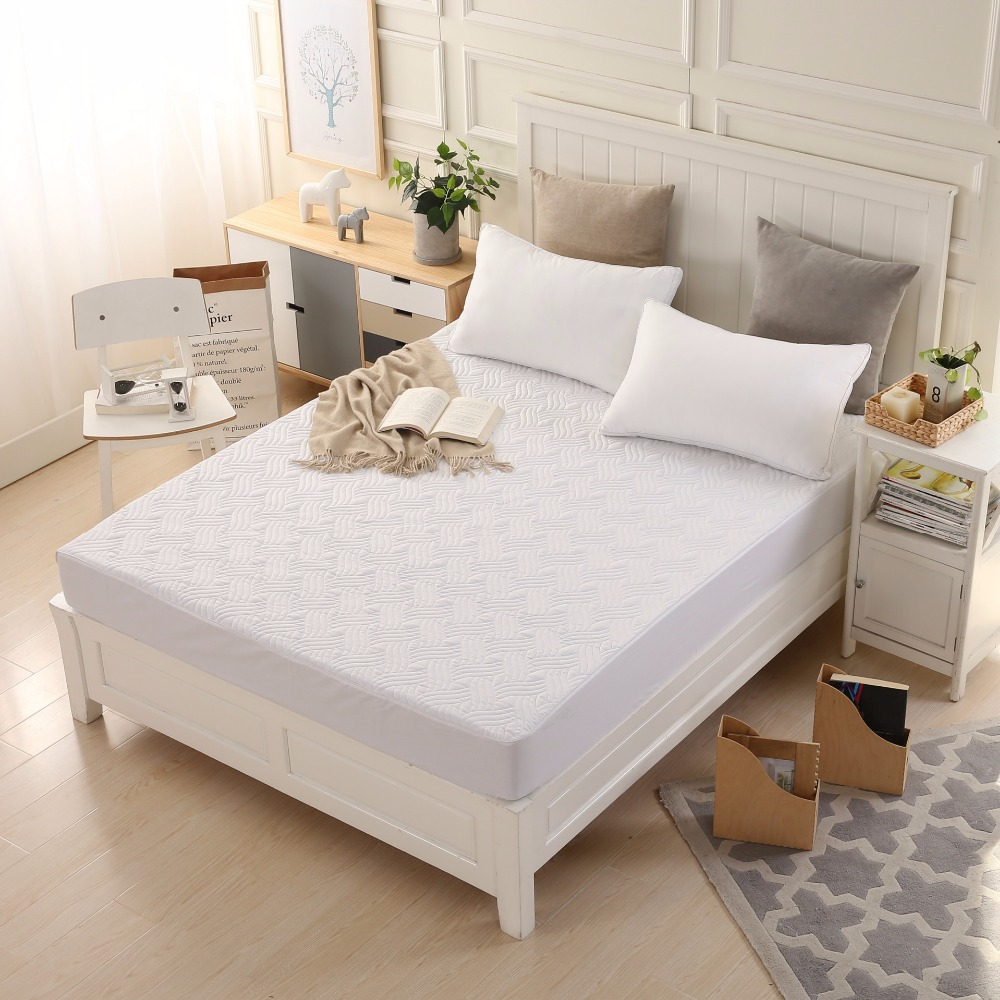 Thickened Sanding Air Permeable Bed Mattress Cover Anti Dust Mite Mattress  Protector Anti Bacteria Fitted Sheet No Pillowcase In Bedspread From Home  ...