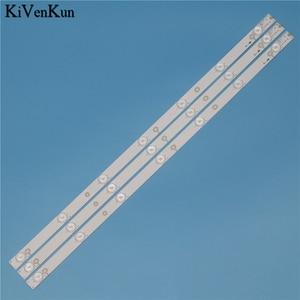 Image 3 - Tira de LED para iluminación trasera de 7 lámparas para Philips 32PHH4200/88 32PHH4509 32PHK4100/12, Kit de barra para TV, banda LED, D307 V1.1 de lente HD, 614 mm