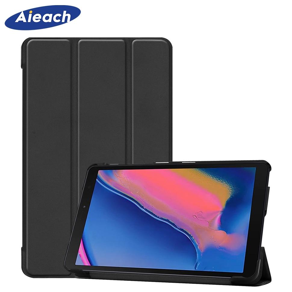 Чехол для Samsung Galaxy Tab A 8,0 дюймов 2019 S Pen, ультратонкий кожаный магнитный чехол-подставка для Galaxy Tab, чехол для телефона с подставкой, чехол для ...