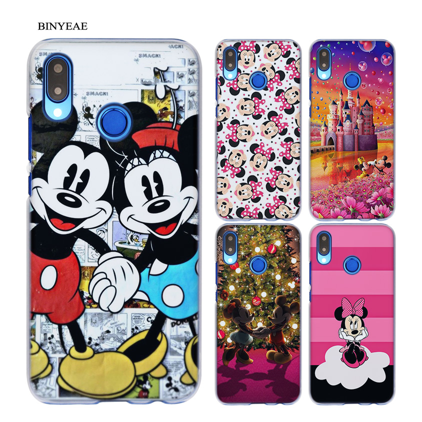 BINYEAE Minnie mouse Transparent Hard Case Cover Coque Shell for Huawei P20 Lite 10 Lite P Smart