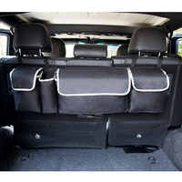 2 in 1 Trunk Back Seat Organizer Space Saving High Capacity Auto Trunk Storage Bag for Any Car SUV 2018 XR657