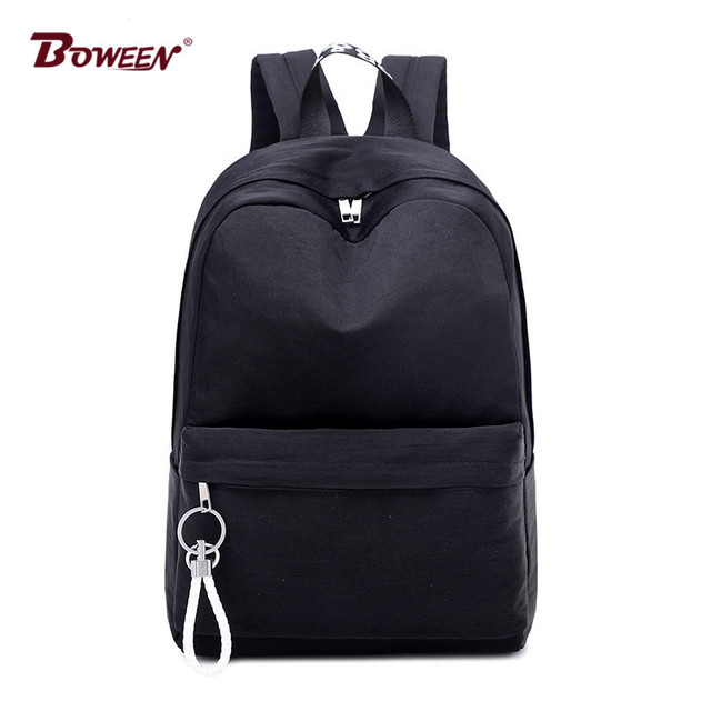 Preppy Style Schoolbag Backpack Teenage Girls Big College Students High School  Bags High Quality Nylon Female Bagpack Women Bag 1b5fb6d66e738