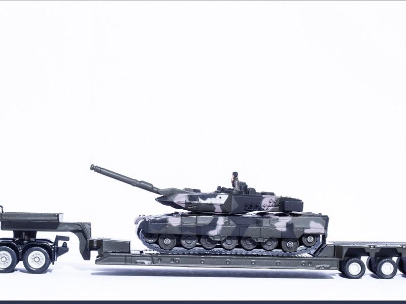 1: 87 Panzer SIKU 1872 Tieflader mit Baixo loader com tanque Surbaisse avec char Diecast Modelo de Carro