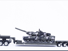 1:87 SIKU 1872 Tieflader mit Panzer Low loader with tank Surbaisse avec char Diecast Car Model