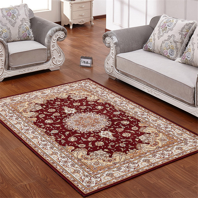 europe classic red carpets polyester fabric pray rug for parlor