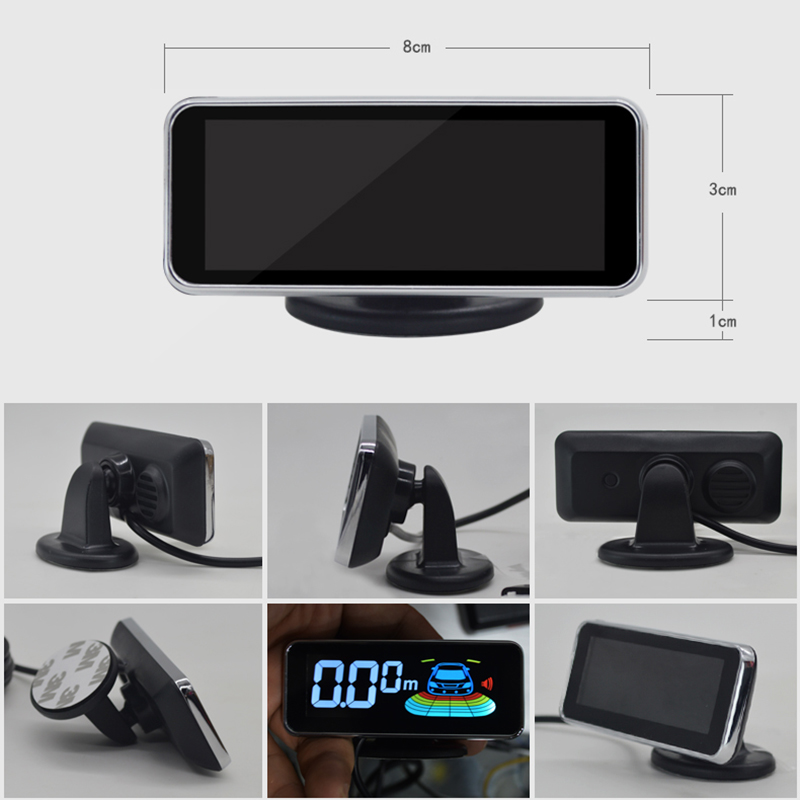 Image 5 - 4 Probe Parking Sensor With Speaker Display Car Automobile Reversing Radar Microcomputer Control Auto Parking Sensor System-in Parking Sensors from Automobiles & Motorcycles
