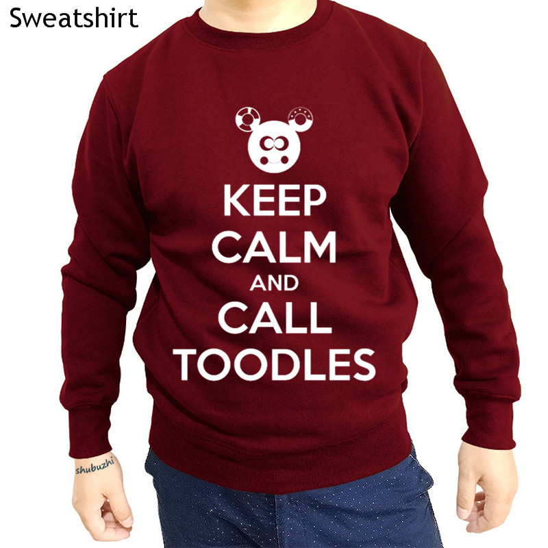 autumn sweatshirt men brand hoody fashion man clothes KEEP CALM AND CALL TOODLES male winter hoodies o-neck clothes