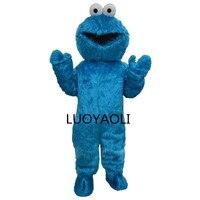 Adultes Sesame Street Bleu Cookie Monster Et Elmo Costume De Mascotte Ventes Haute Auality Longue Fourrure Elmo Costume De Mascotte Livraison Gratuite