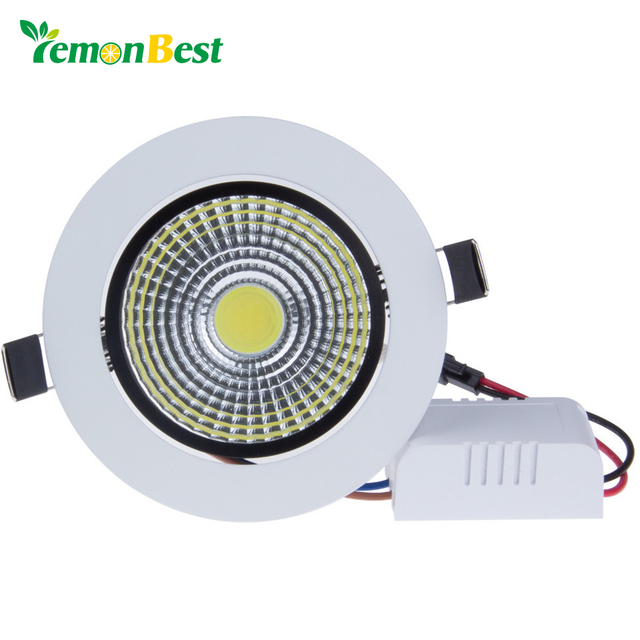 Lemonbest Dimmable LED COB Ceiling Down Light 6W 9W 12W 15W Dowlight Warm / Cool White AC85-265V Recessed Lamp For Home Lighting