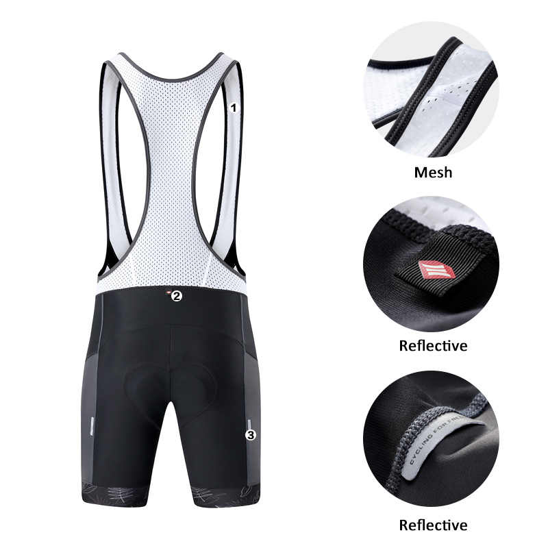 Santic hombres ciclismo Bib Shorts Pro ajuste verano 4D almohadilla camino MTB bicicleta Riding Bib Shorts Bib pantalones Asian Size M-3XL K7MC028G