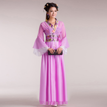 ФОТО spend bone fairy  hanfu dress sexy costume female chinese imperial concubine guzheng costumes chinese folk dance costume