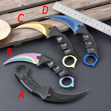 G&P CS GO karambit fade knife Karambit real knifes Counter Strike collectible hunting Fixed knife tactical survival tool