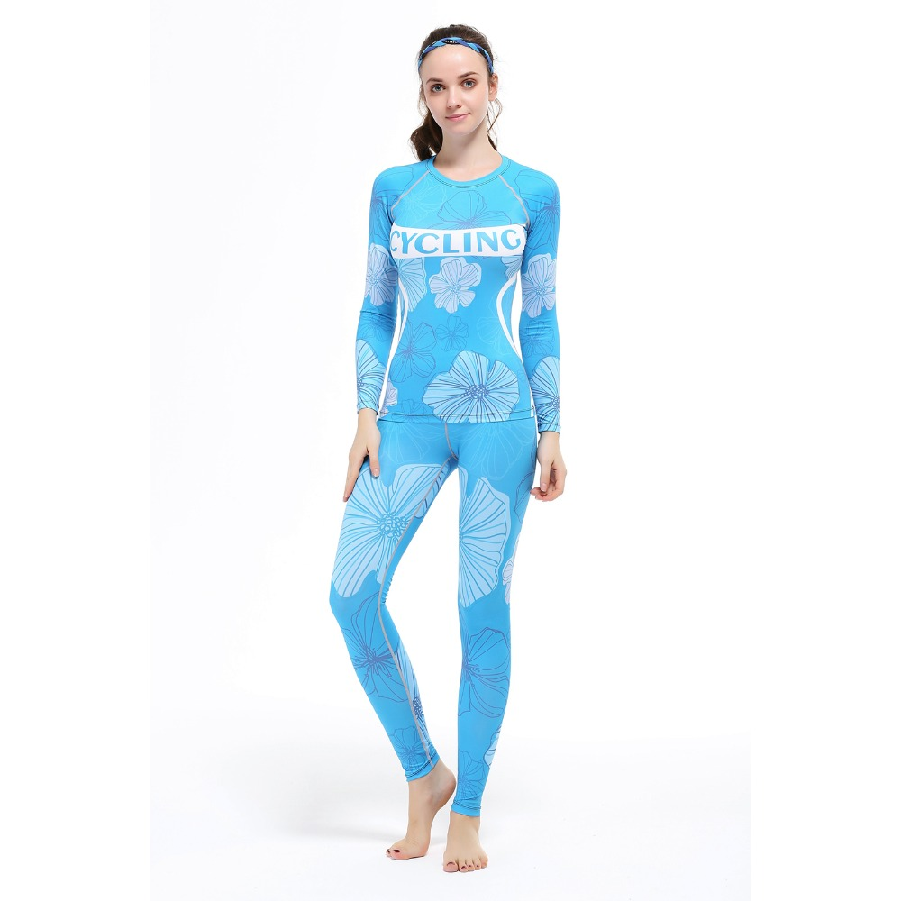 Women Blue yoga Sets two pieces Breathable Suit Compression Quick-drying Gym sports suit Top quality fitness running Sport shirt quick drying gym sports suits breathable suit compression top quality fitness women yoga sets two pieces running sports shirt
