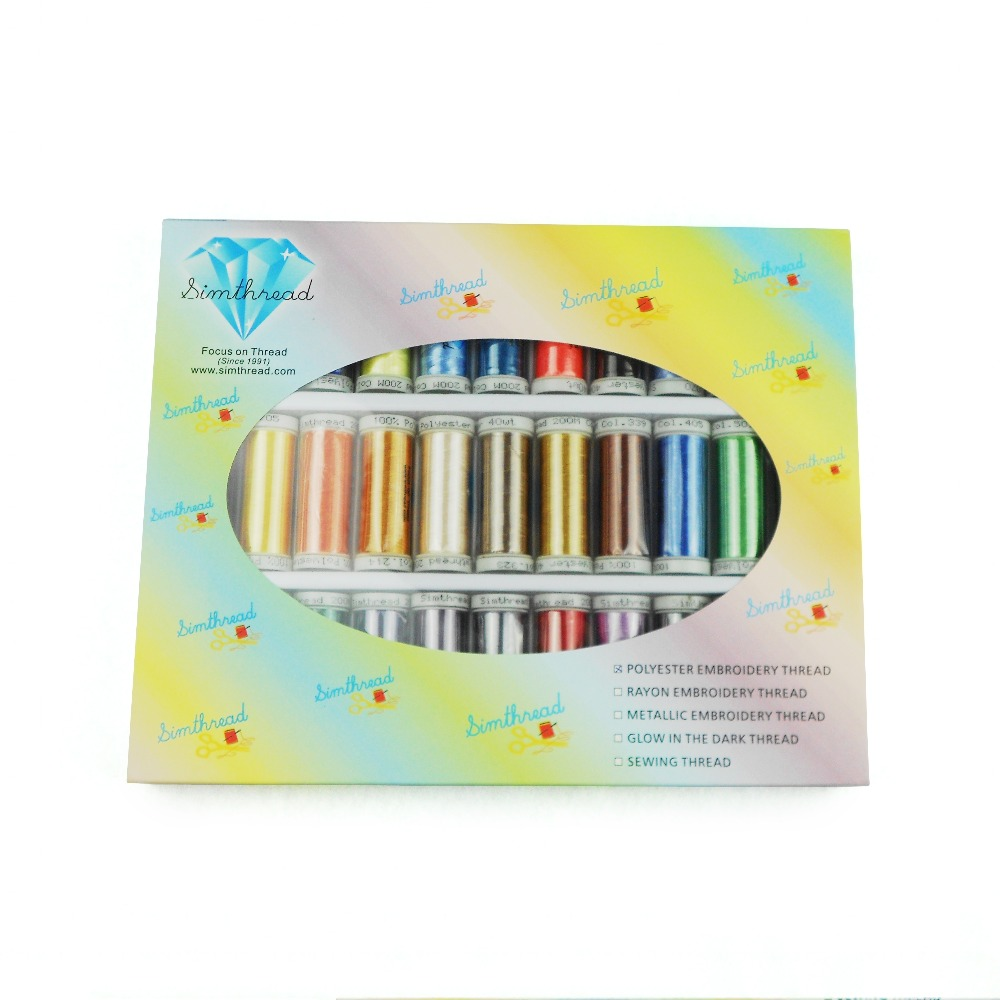 32 Brother Colors Series Polyester Machine Embroidery Thread With