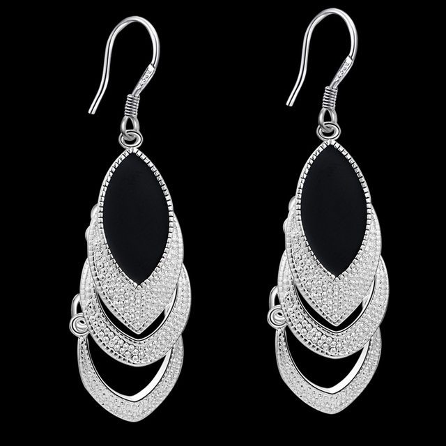 jewelry Earrings Black Crystal 2