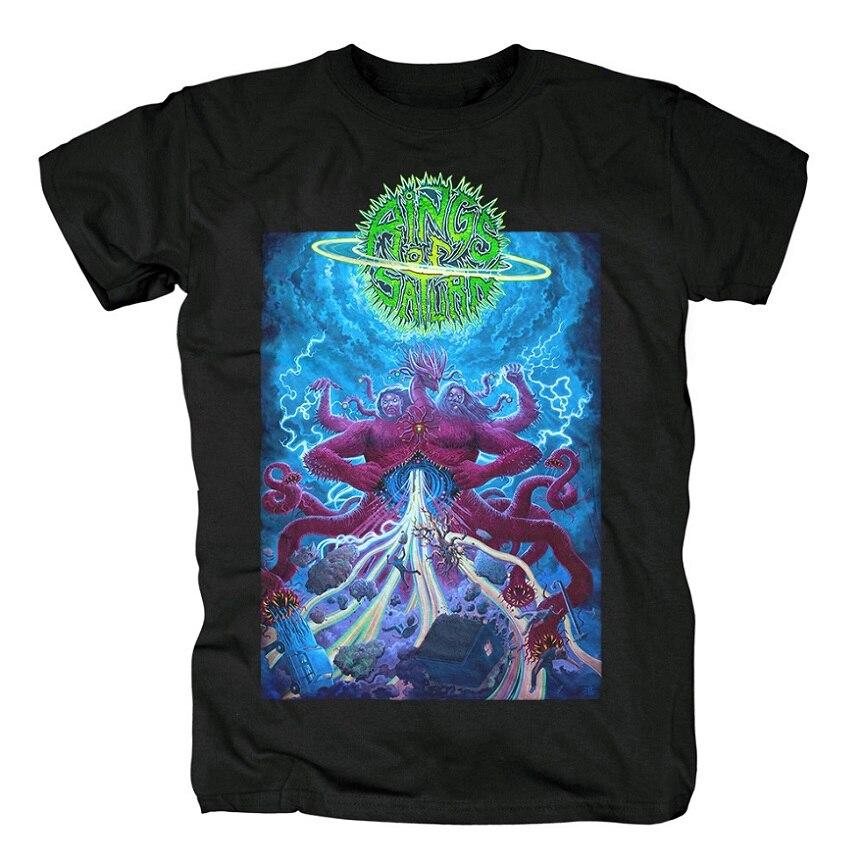 15 дизайнерских колец Сатурн инопланетянин группа рок брендовая рубашка Hardrock heavy thrash Metal deathcore хлопковая Футболка camiseta уличная одежда - Цвет: 13