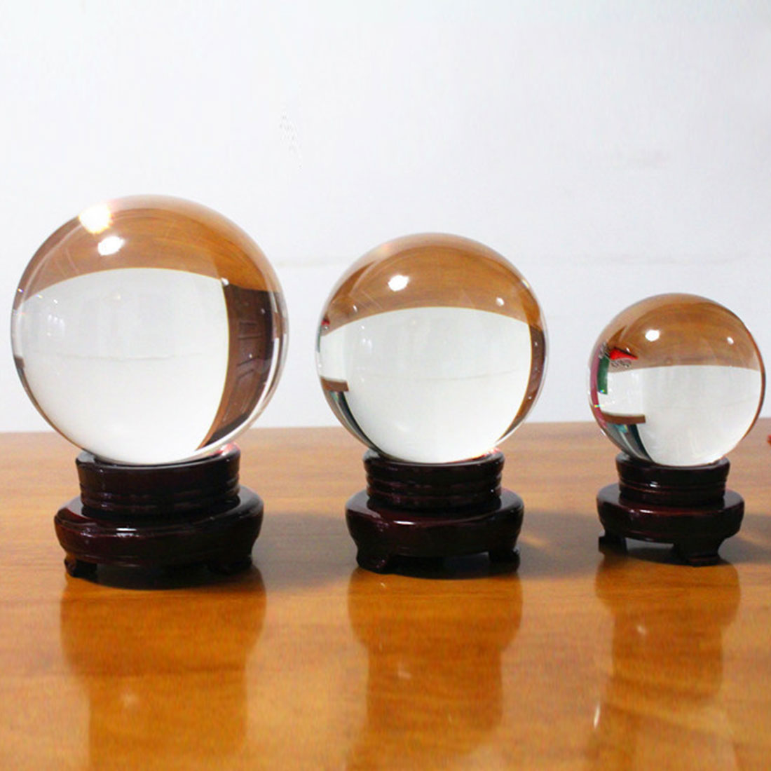US $1 43 12% OFF 4 size Beautiful Sphere Photography Lensball Background  Decor Crystal Ball Glass Crystal Clear Lens Ball -in Figurines & Miniatures